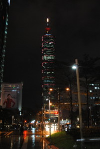 Taipei 101 is so grand even in the rain!